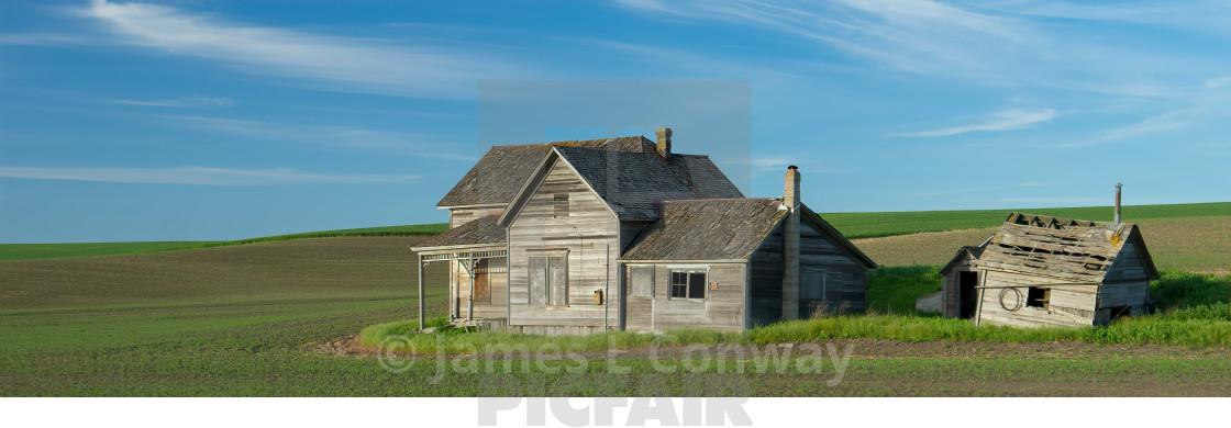 """""""Abandoned Farm House"""" stock image"""