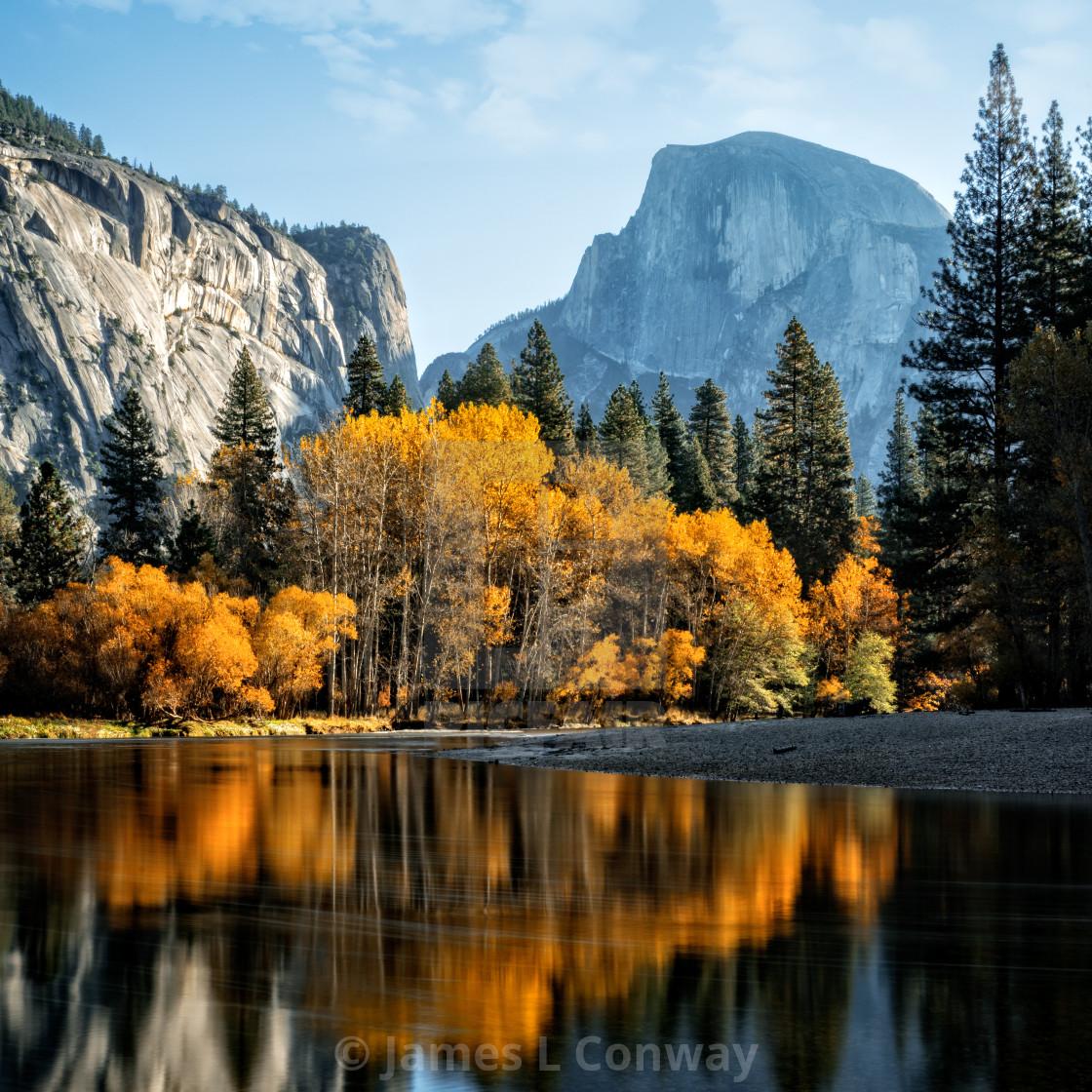 """""""Yosemite Fall Reflections"""" stock image"""