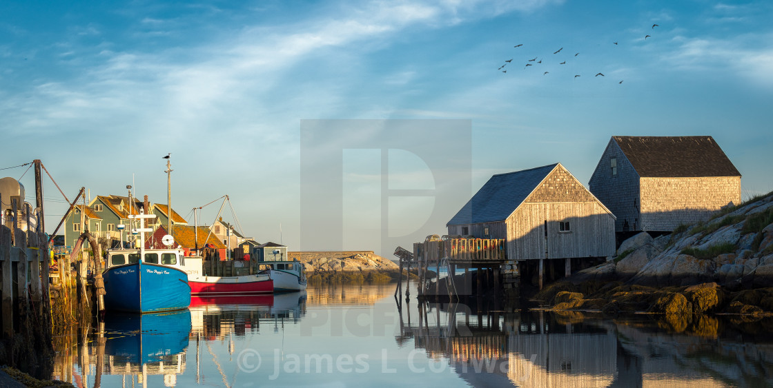 """Picturesque Harbor"" stock image"