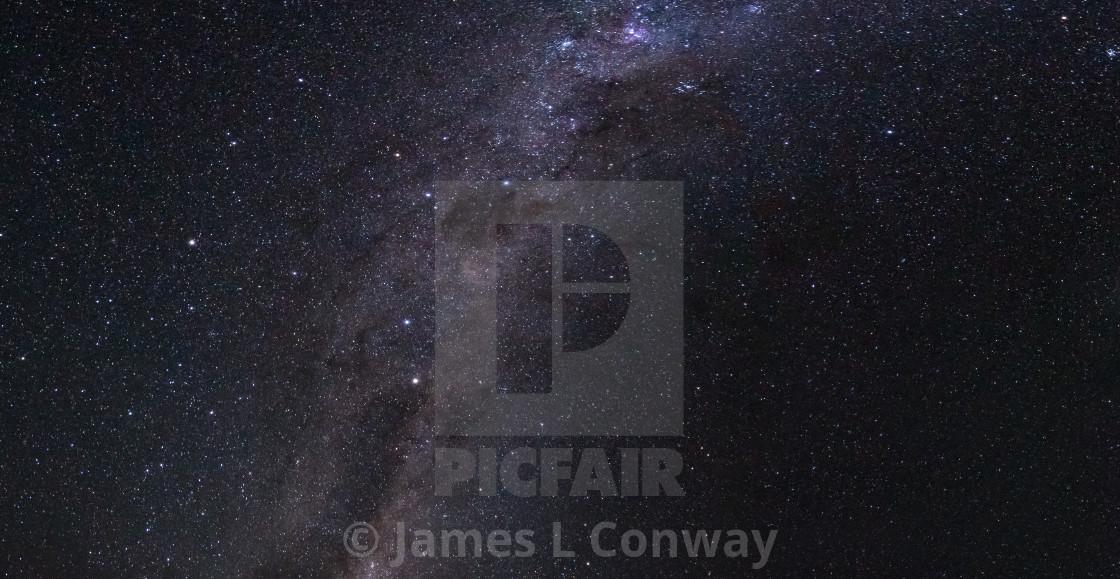 """""""Night Sky with Milky Way"""" stock image"""