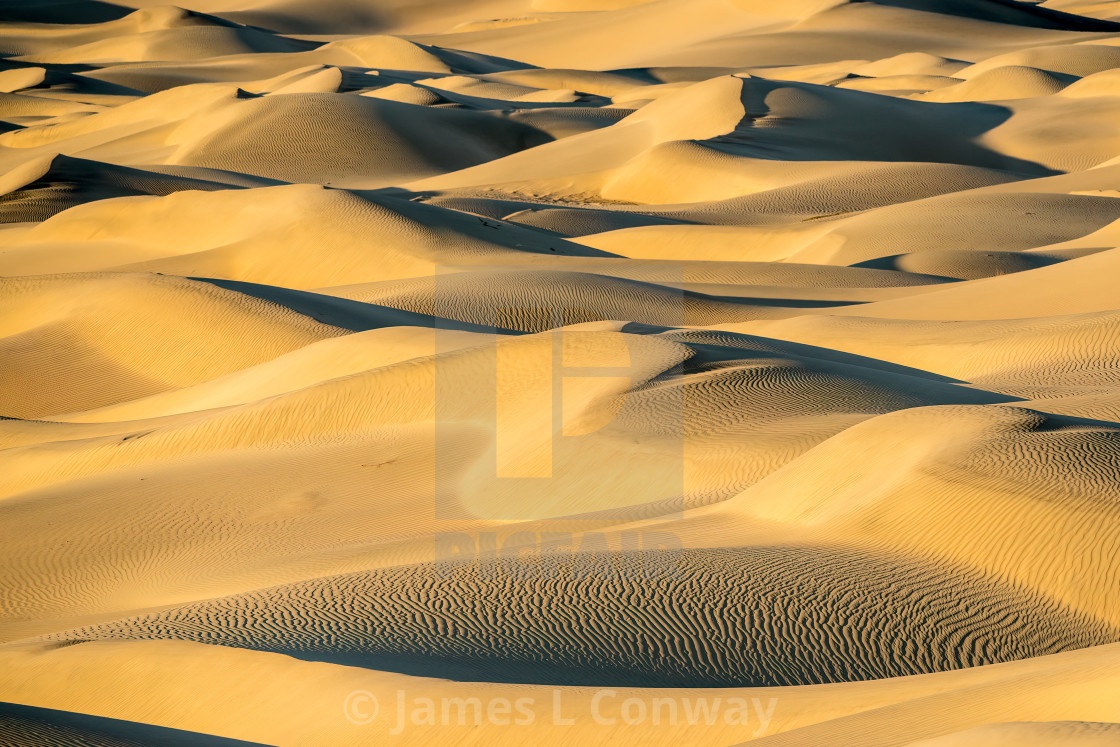 """Death Valley Dunes"" stock image"