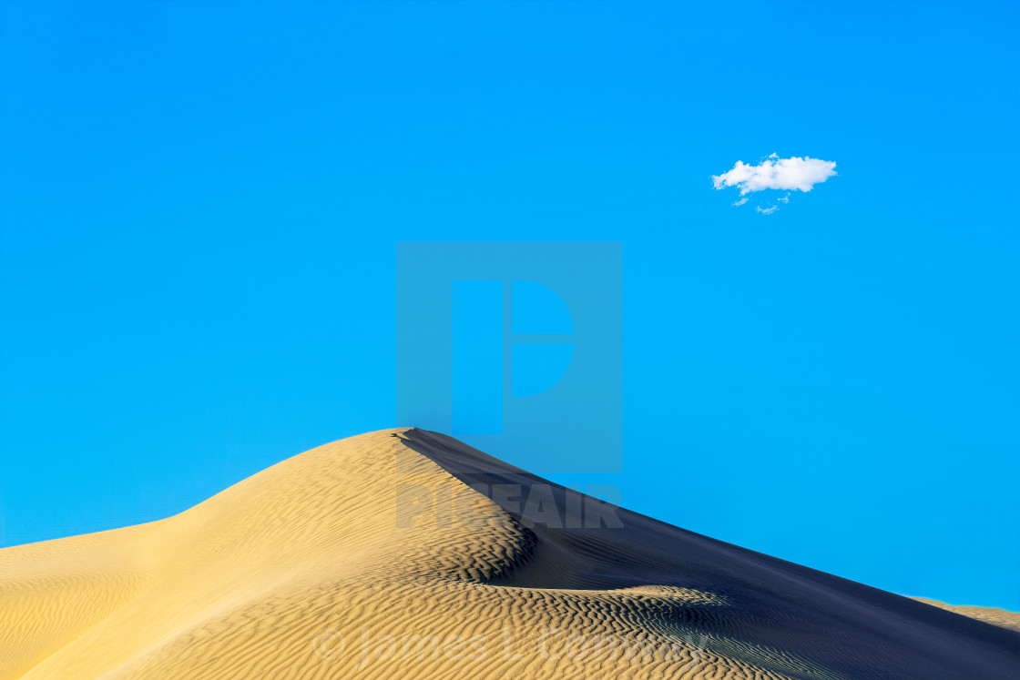 """Death Valley Sand Dune"" stock image"