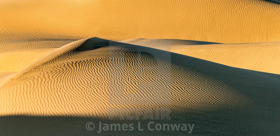 """Death Valley Dunes"" stock image"