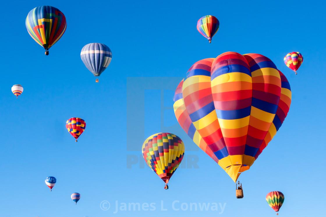 """Hot Air Balloons Fly"" stock image"