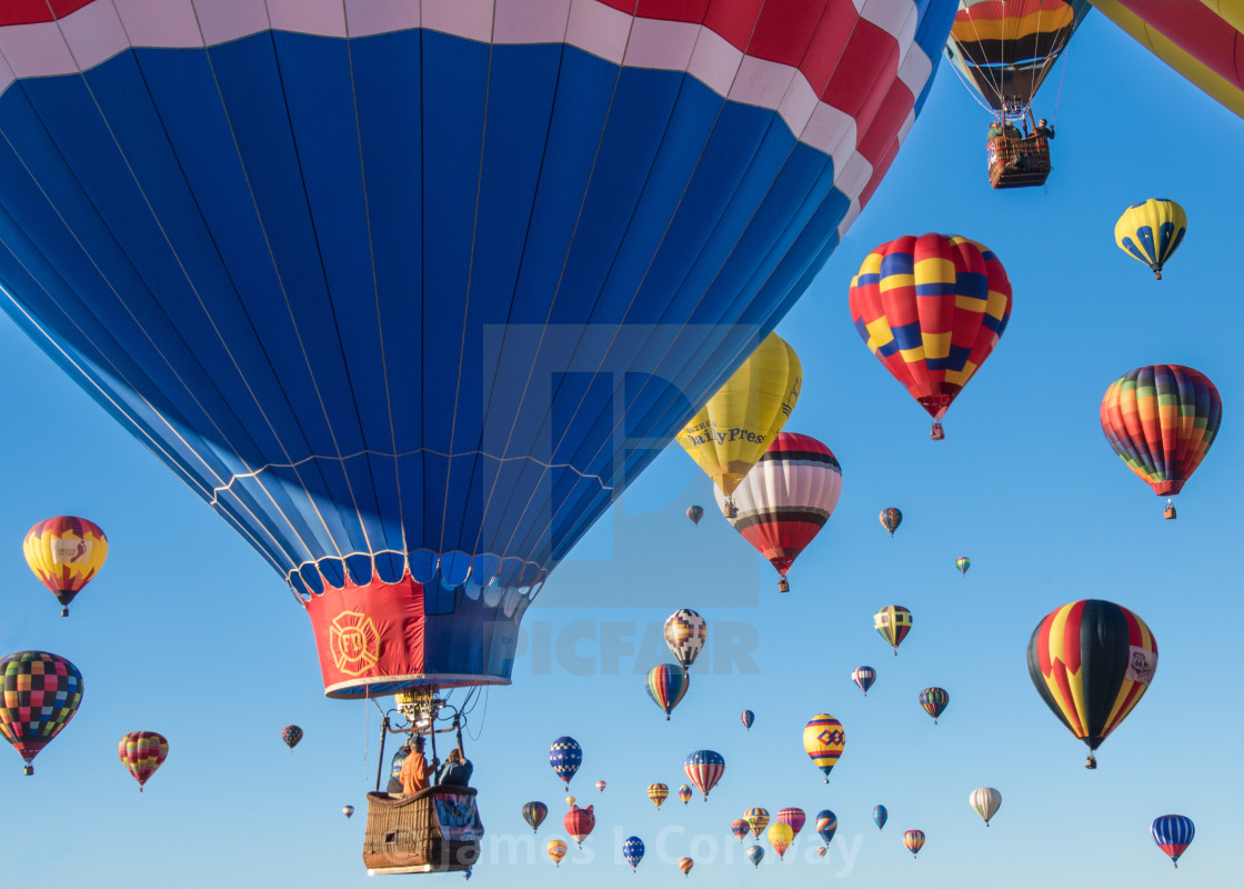 """Hot Air Balloon Launch"" stock image"