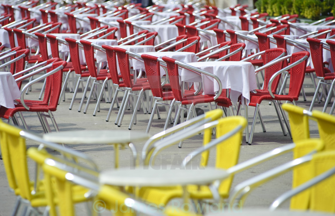 """Cafe Chairs"" stock image"