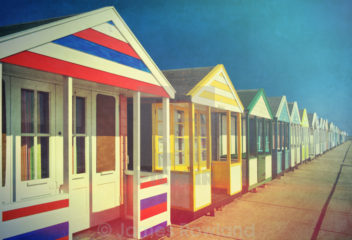 """Beach Huts one"" stock image"