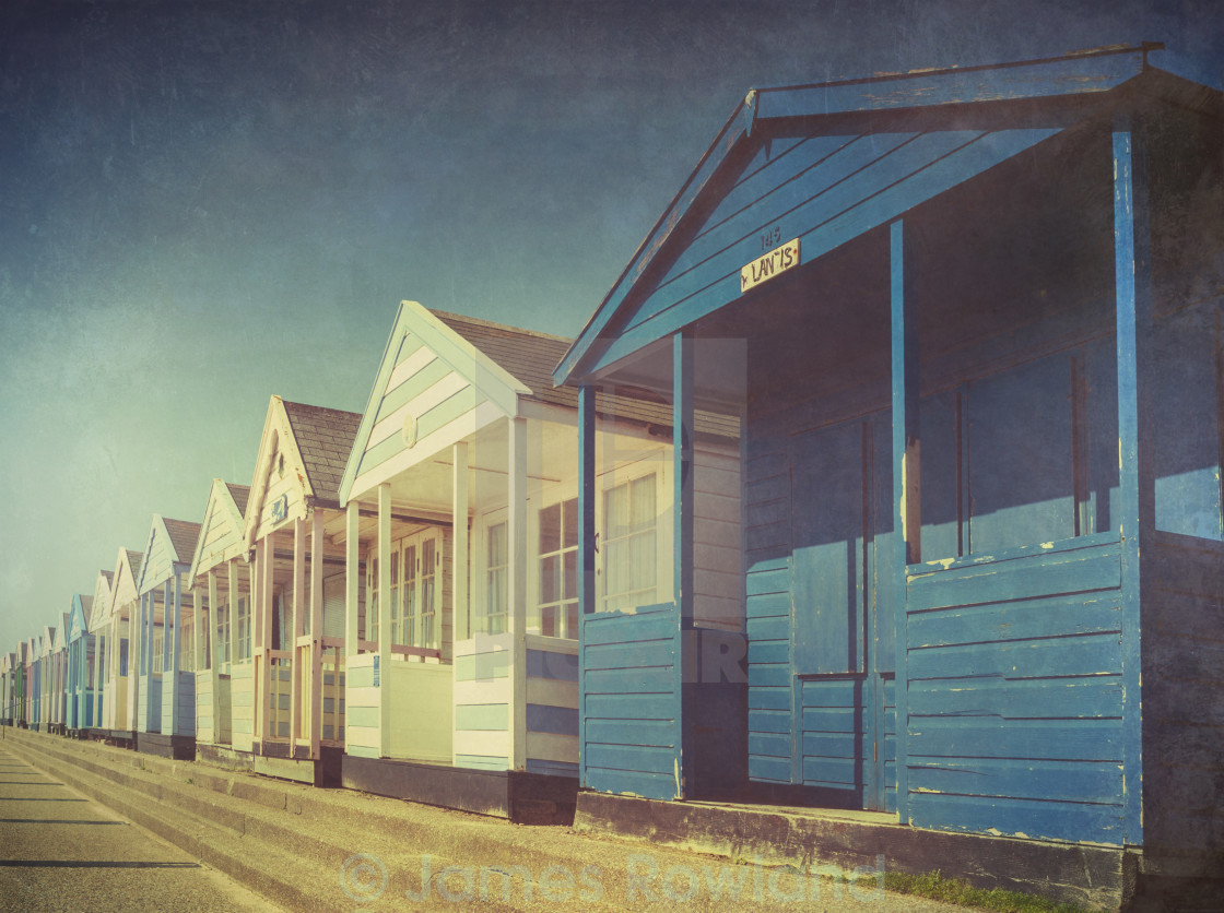 """Beach Huts three"" stock image"