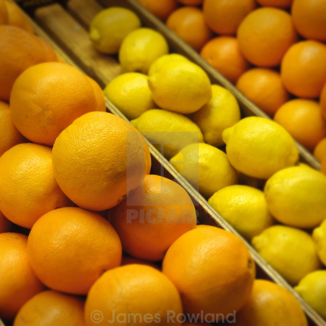 """Oranges and Lemons"" stock image"