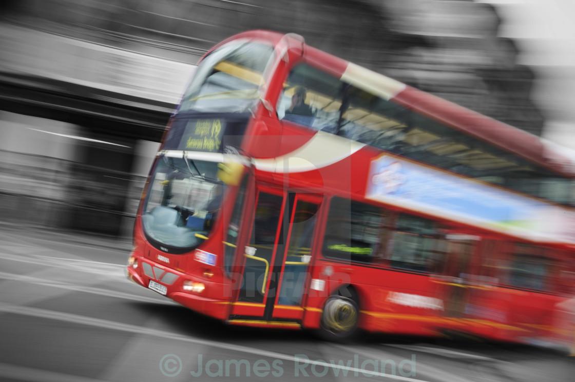 """Big Red London Bus"" stock image"