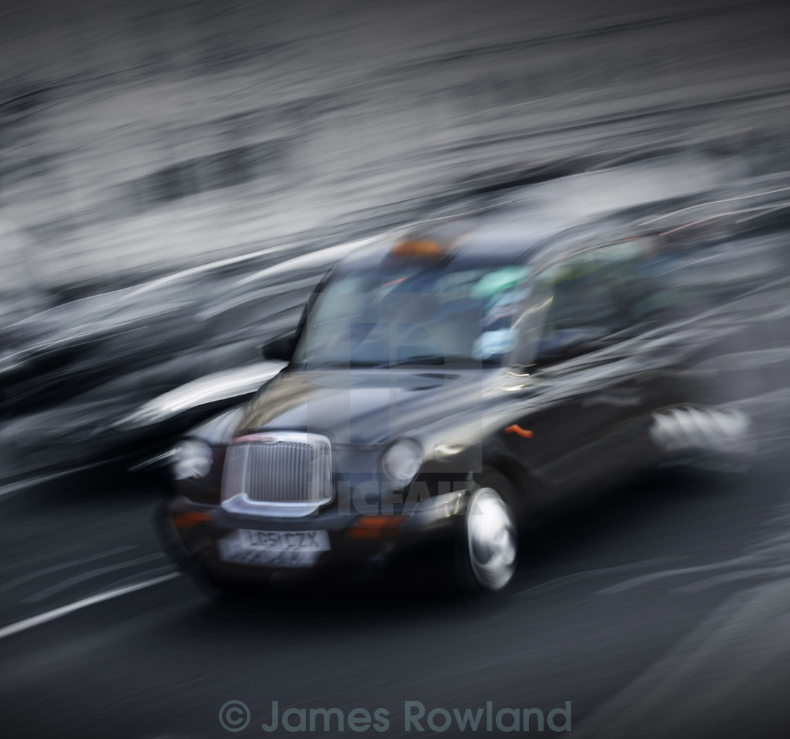 """London Taxi II"" stock image"