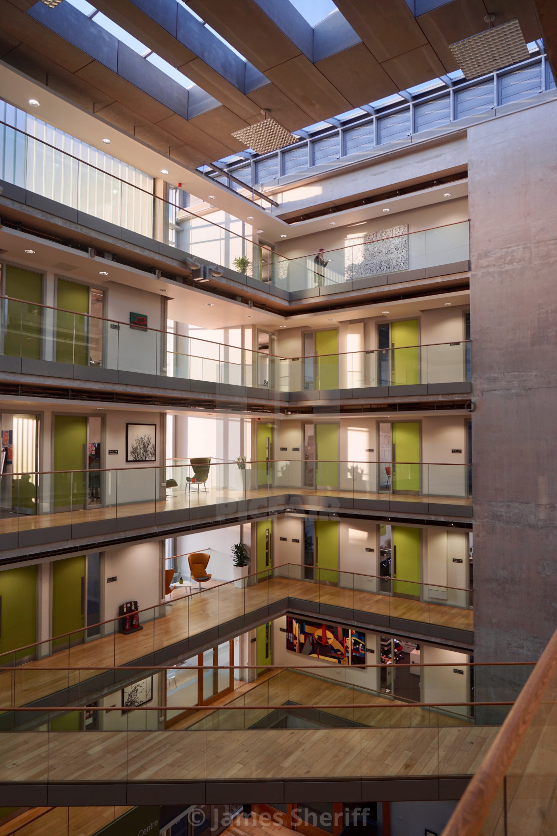 """Office building atrium"" stock image"