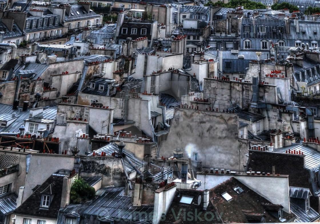 """Paris Chimneys"" stock image"