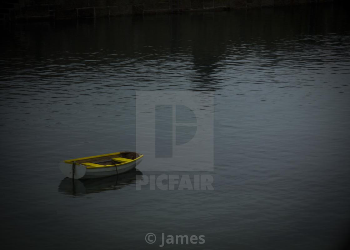 """Single Boat"" stock image"