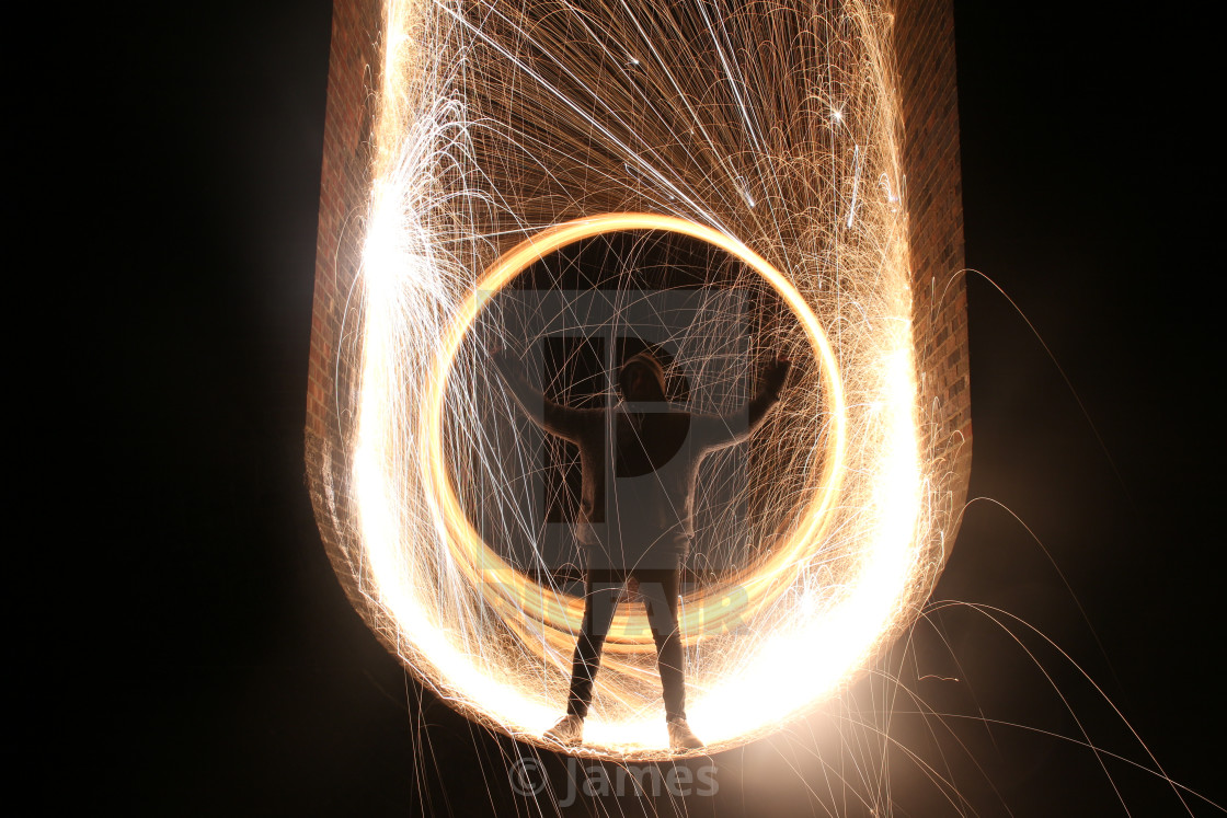 """Steel wool silhouette"" stock image"