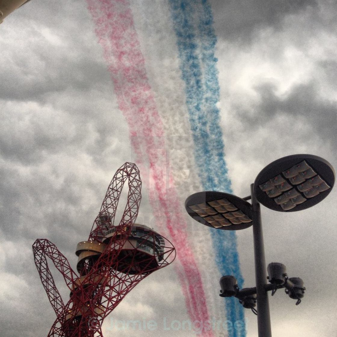 """Red Arrows Olympics"" stock image"