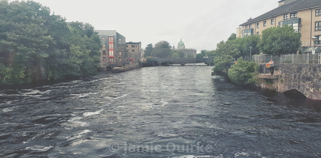 """River Corrib, Galway City, IE"" stock image"
