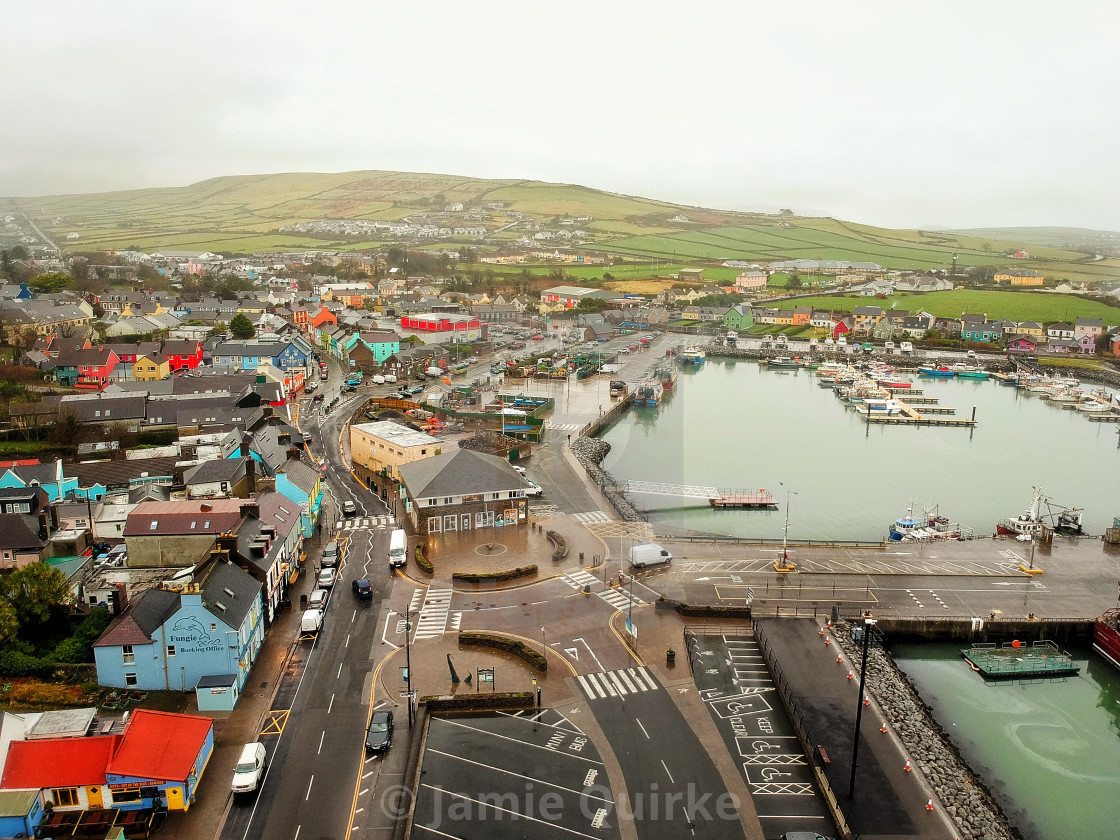 """""""Dingle Town, Co. Kerry, IE"""" stock image"""