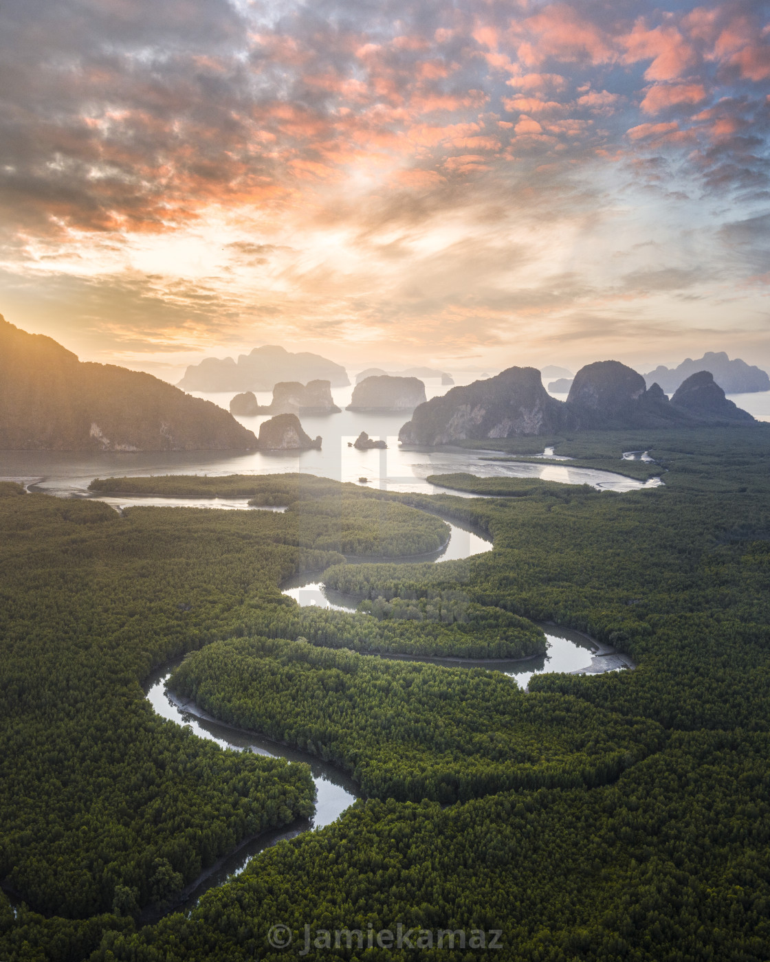 """Thailand's morning veins"" stock image"