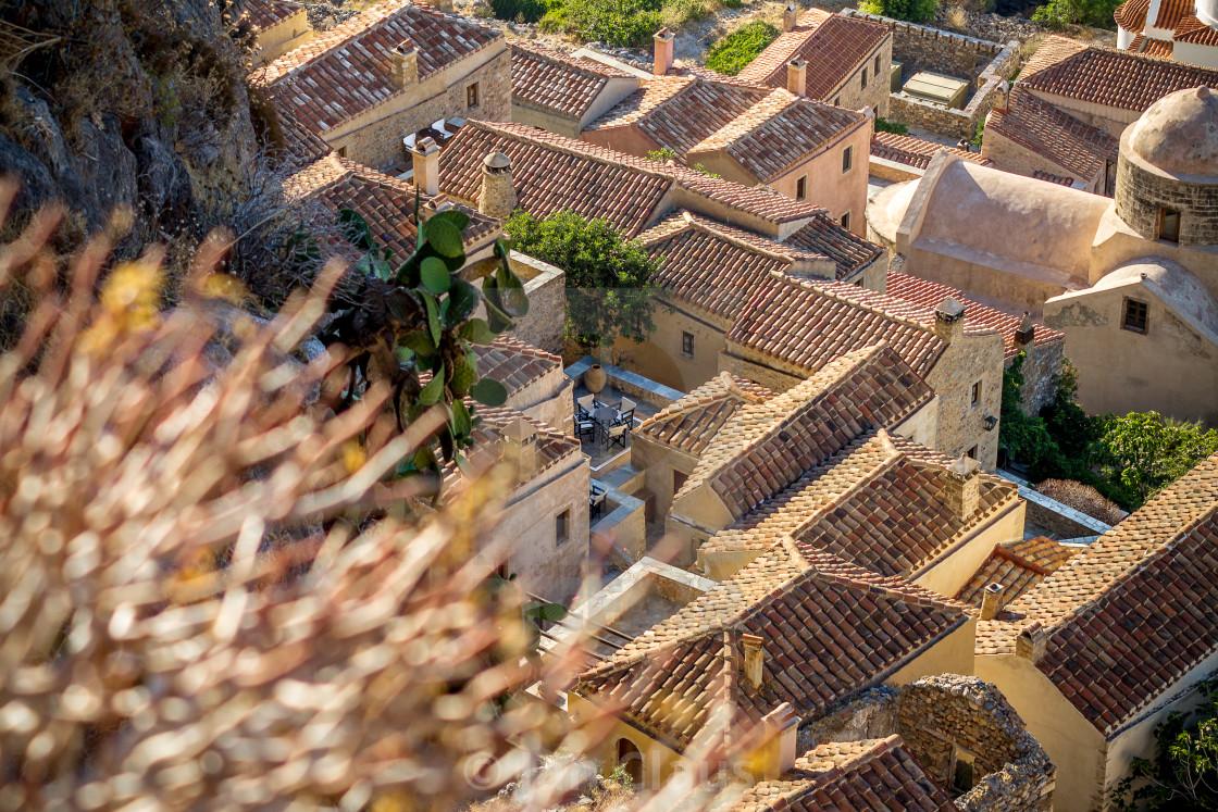 """Monemvasia from above"" stock image"