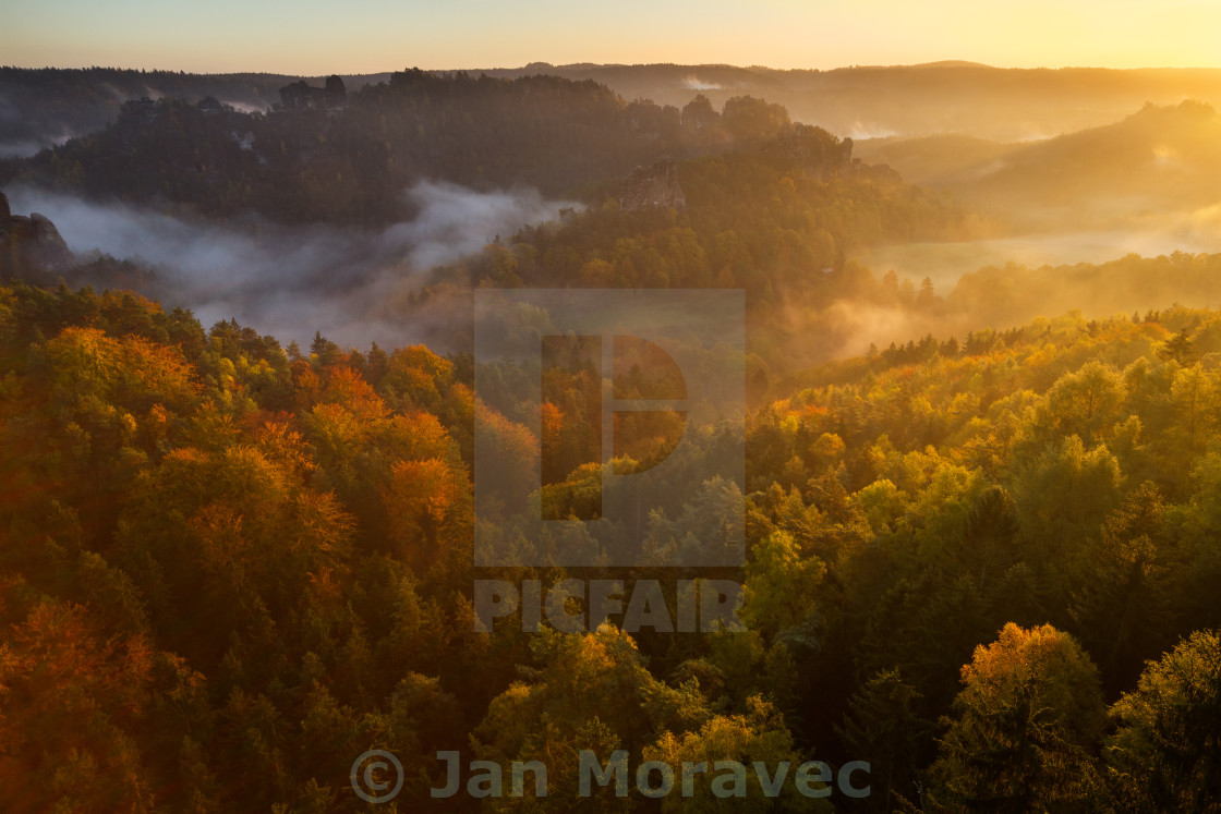 """Autumn at Bastei"" stock image"