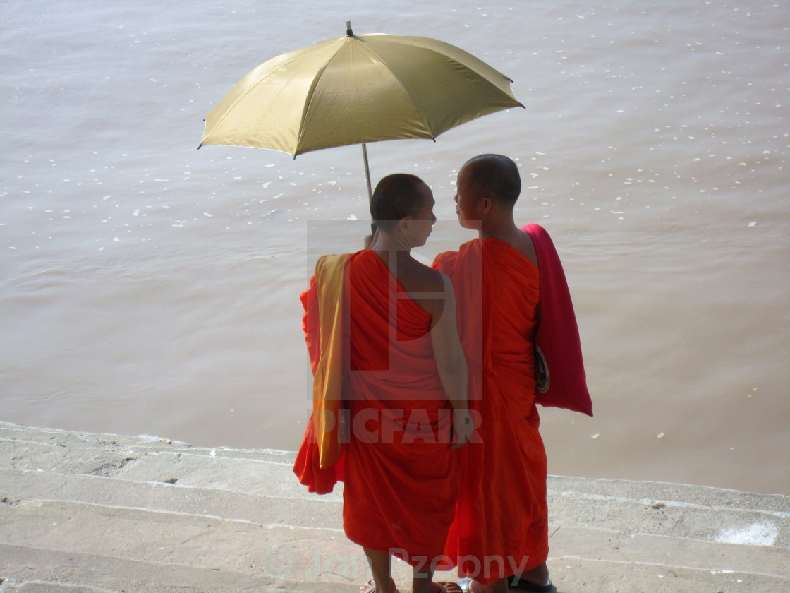 """Monks"" stock image"