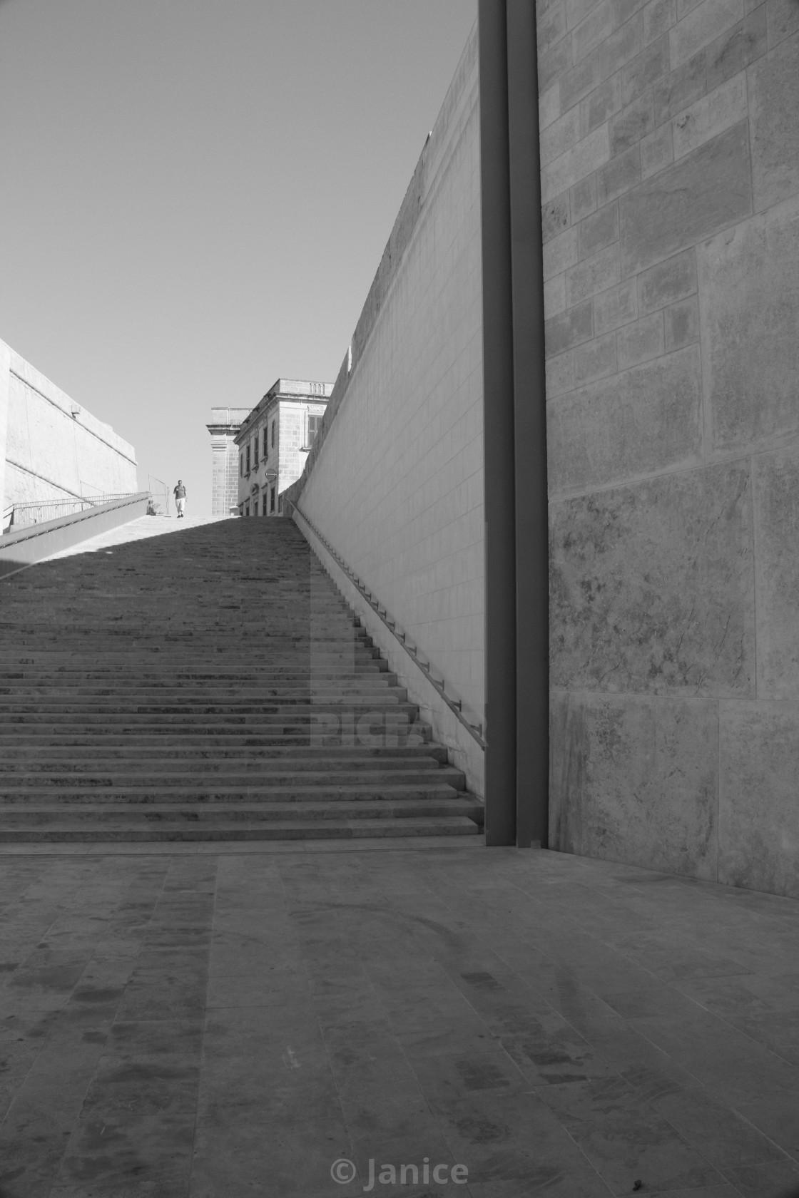 """Valletta steps Malta"" stock image"