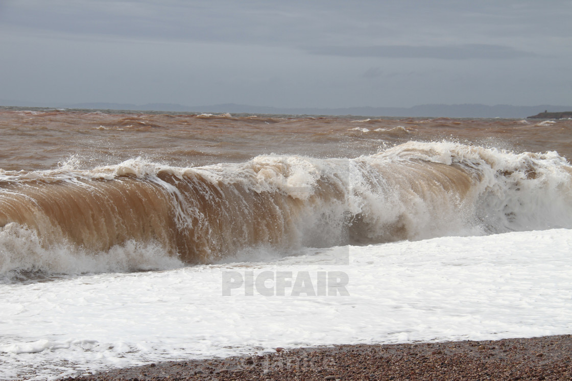 """Exmouth Rolling waves"" stock image"