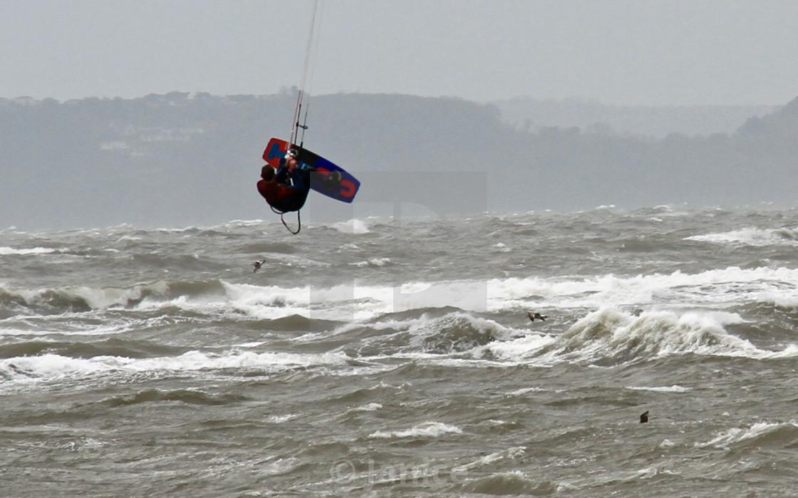 """Kite surfer airtime"" stock image"