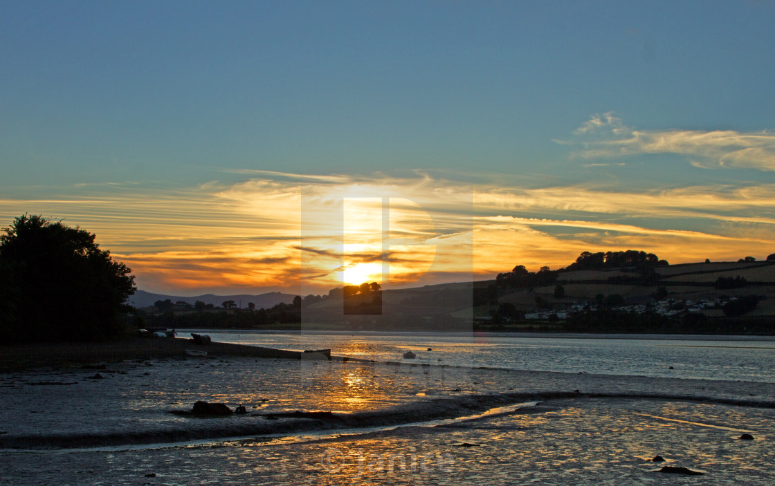 """Sunset in South Devon"" stock image"