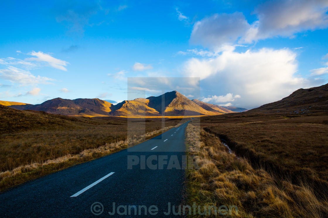 """Connemara countryside, ireland"" stock image"