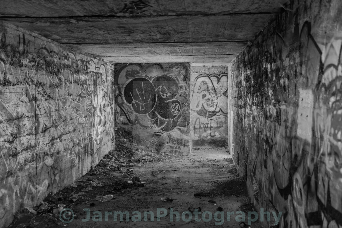 """The Bunker at Hythe"" stock image"
