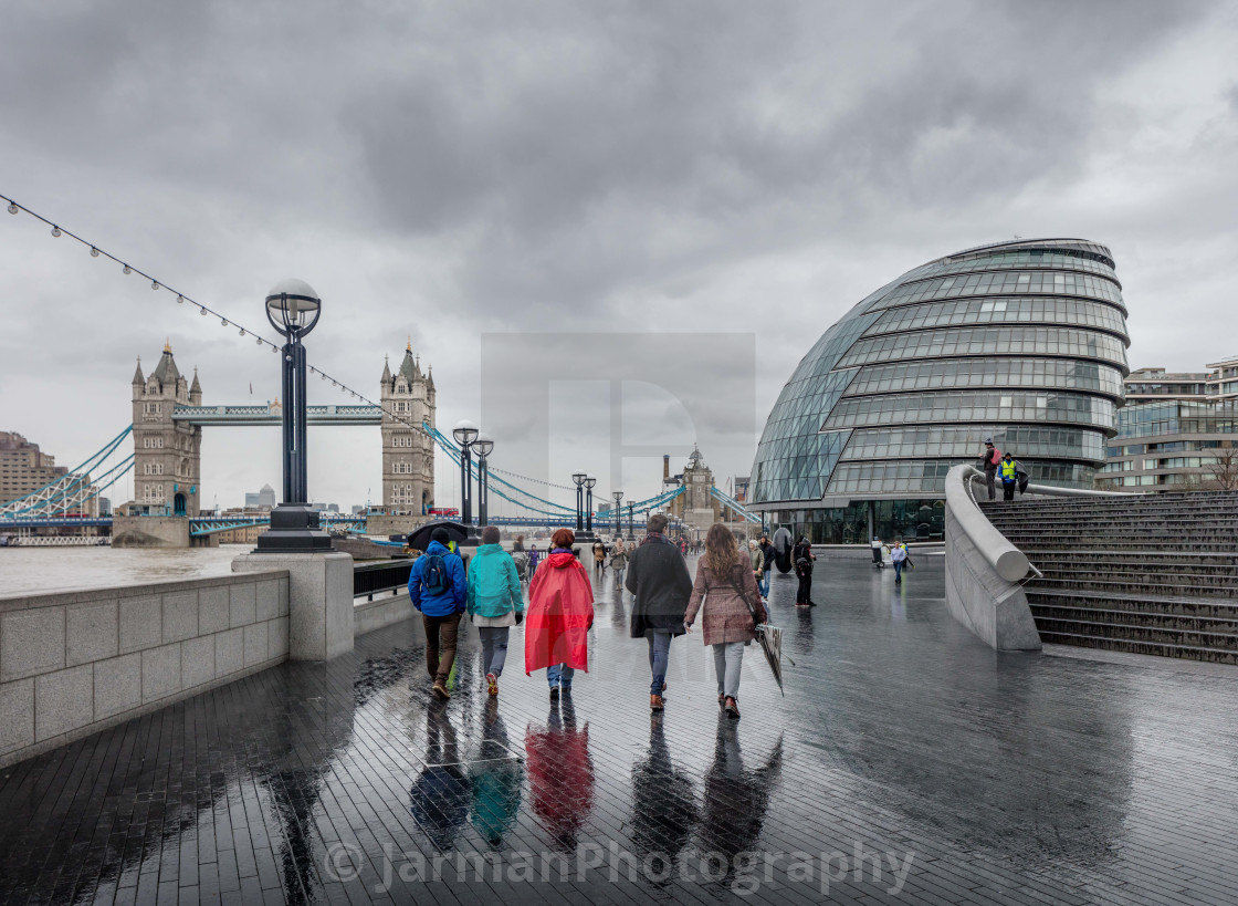 """Five Go Wet in London"" stock image"