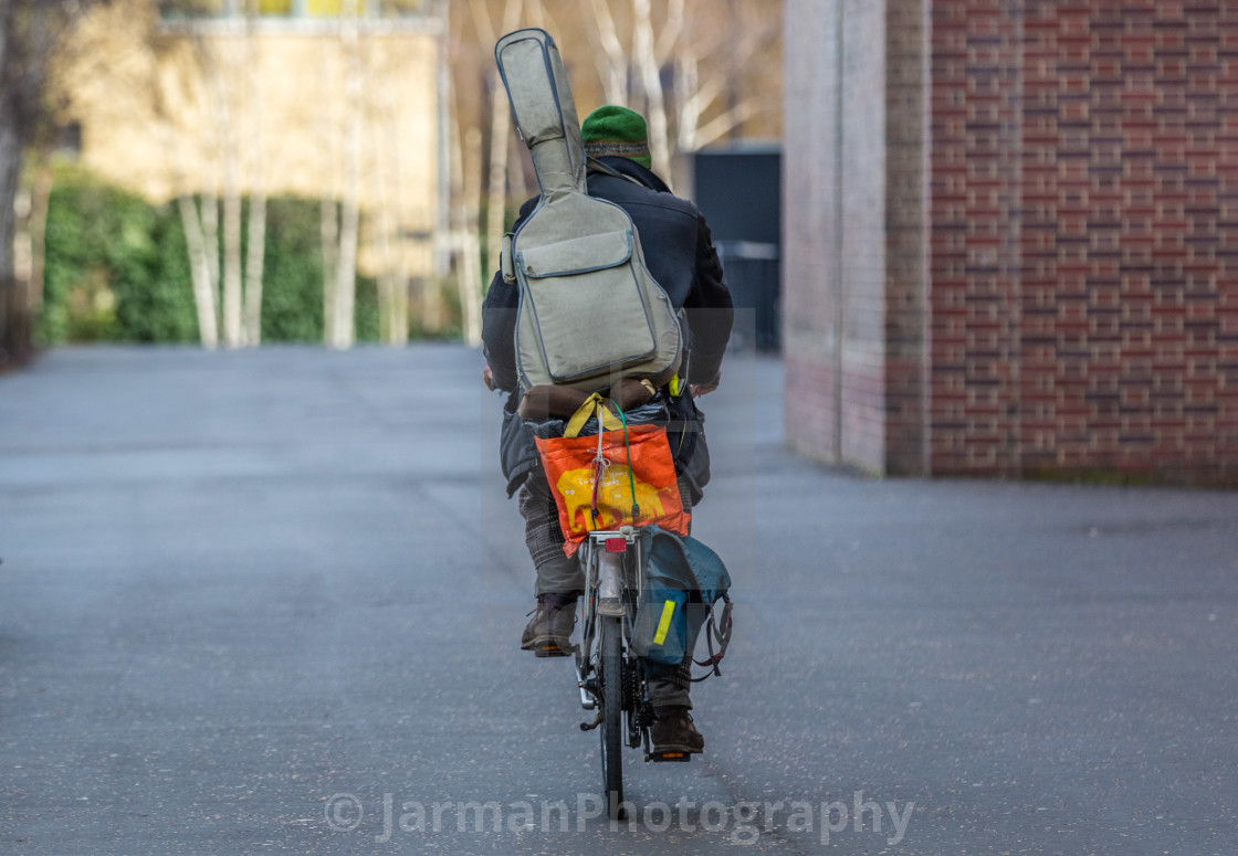"""Peddle Busker"" stock image"