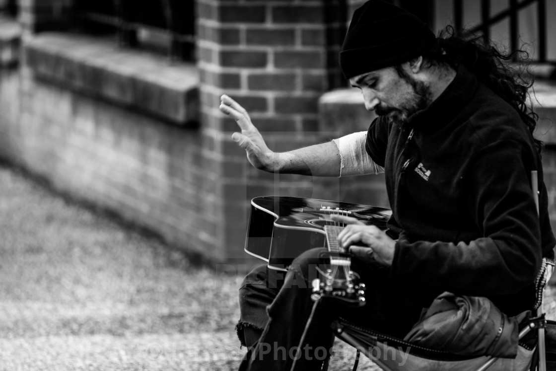 """Mr Kaylon Busker"" stock image"