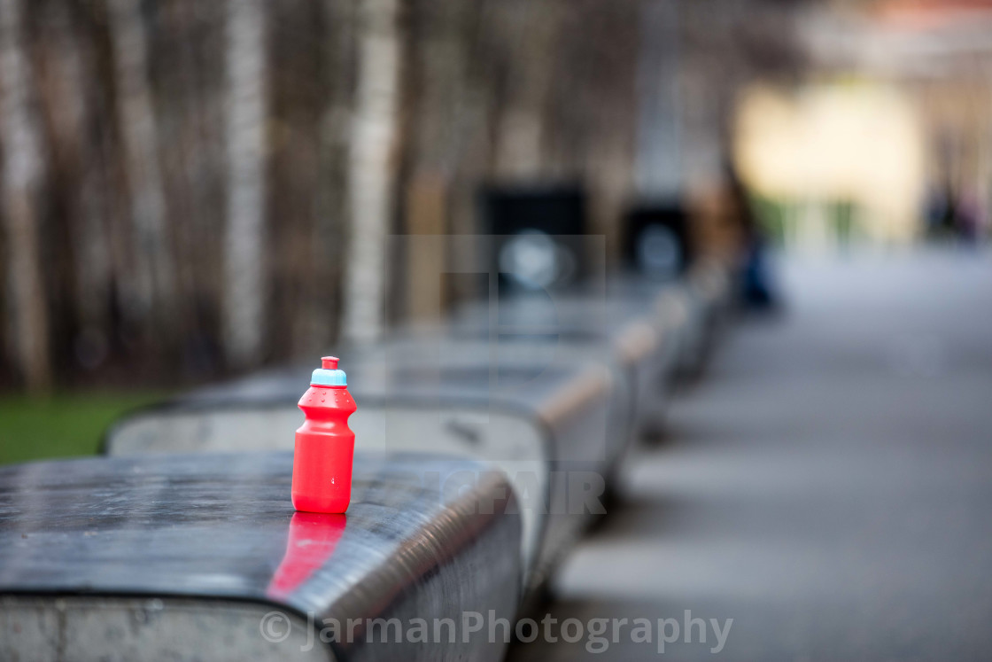 """Forgotten Bottle"" stock image"