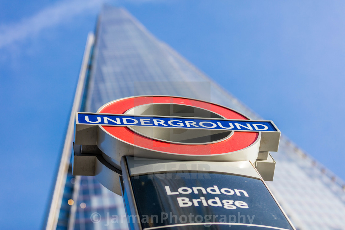 """London Bridge Underground"" stock image"
