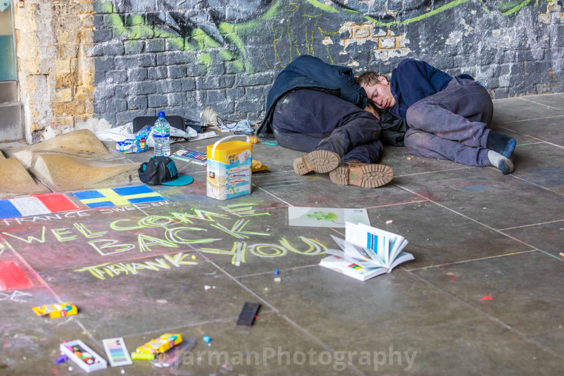 """Interlude London Street Art"" stock image"