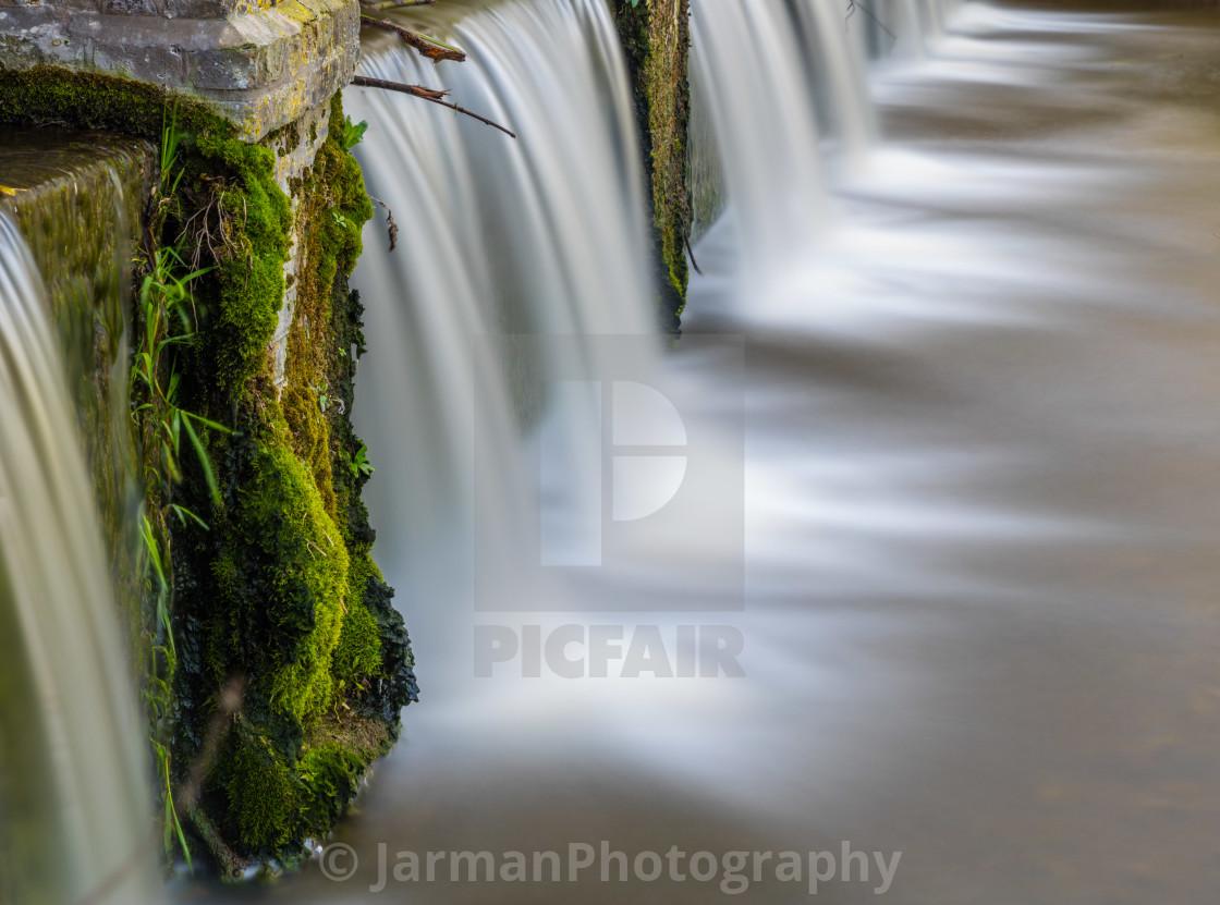 """Moss and Waterfalls"" stock image"