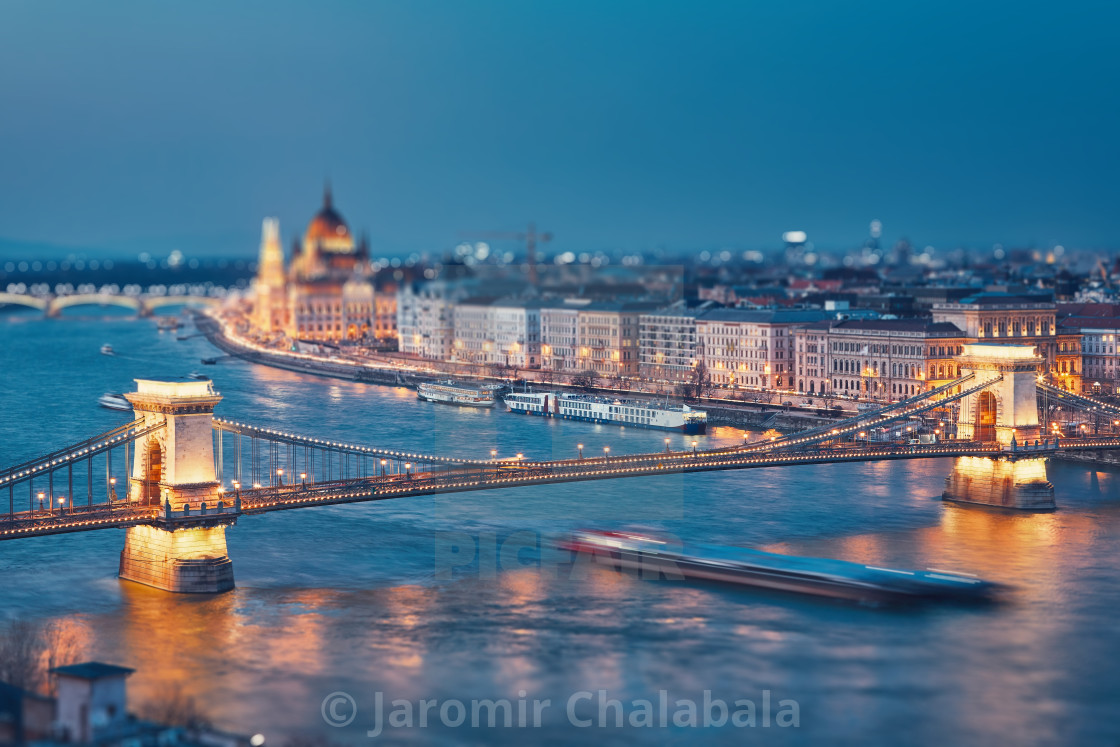 """Budapest at twilight"" stock image"
