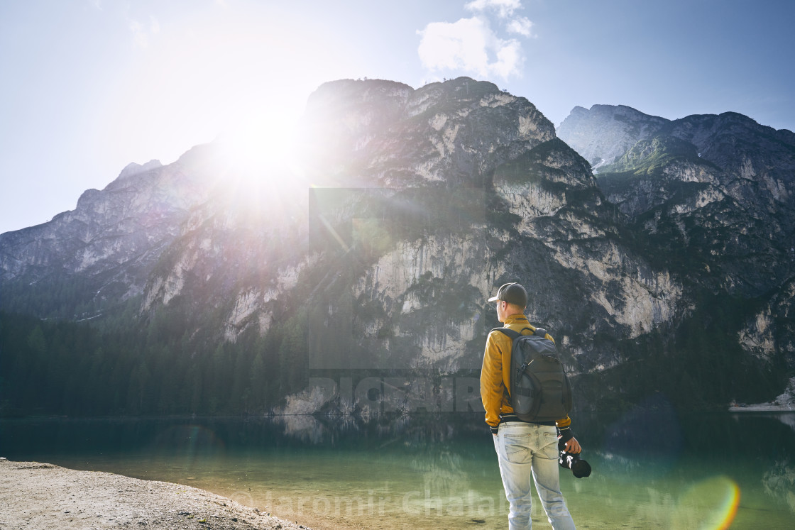 """""""Photographer in mountains"""" stock image"""