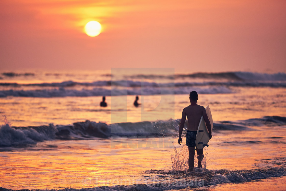 """Surfer st sunset"" stock image"