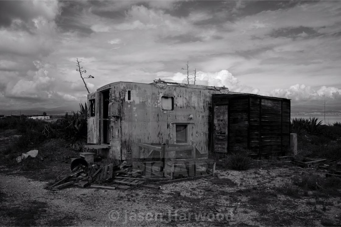 """Abandoned Cabin"" stock image"