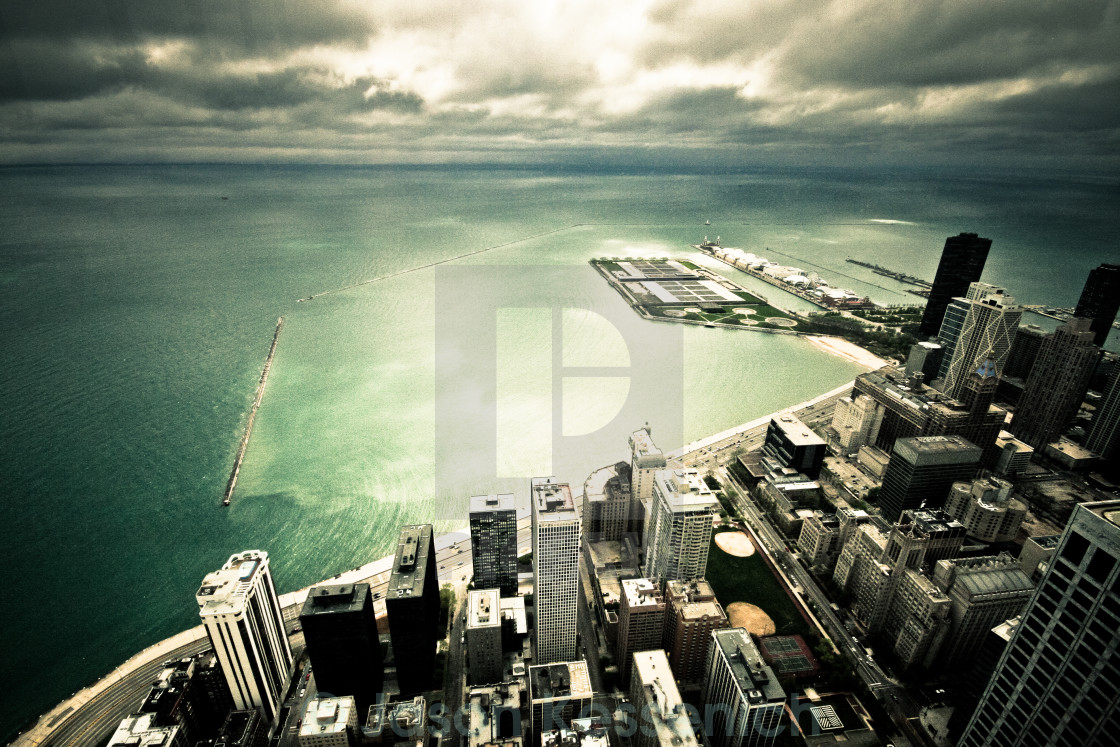 """Looking Down on Chicago"" stock image"