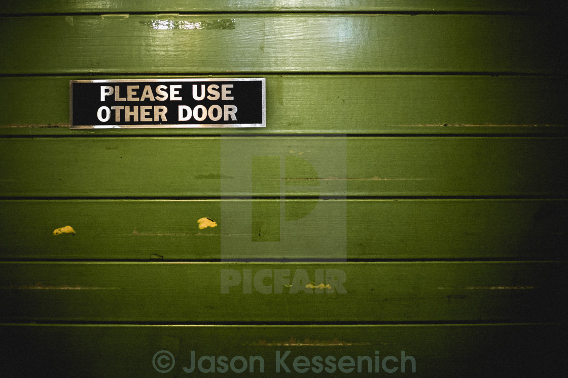 """Use Other Door"" stock image"