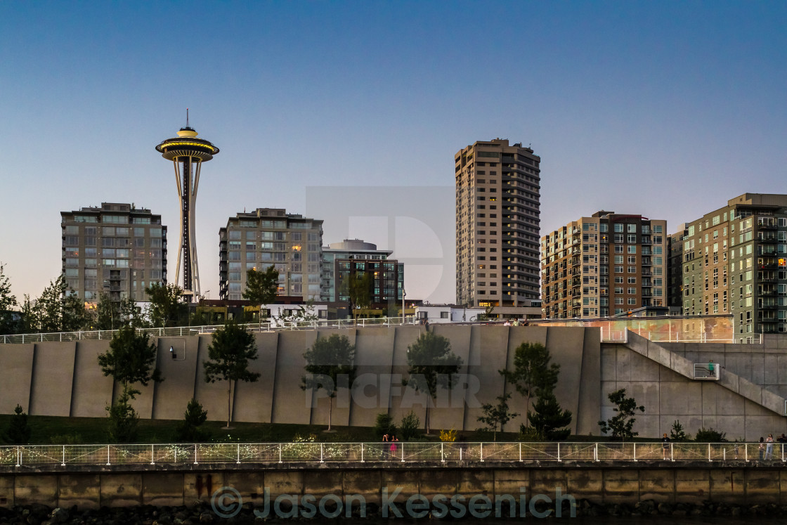 """Seattle Skyline"" stock image"