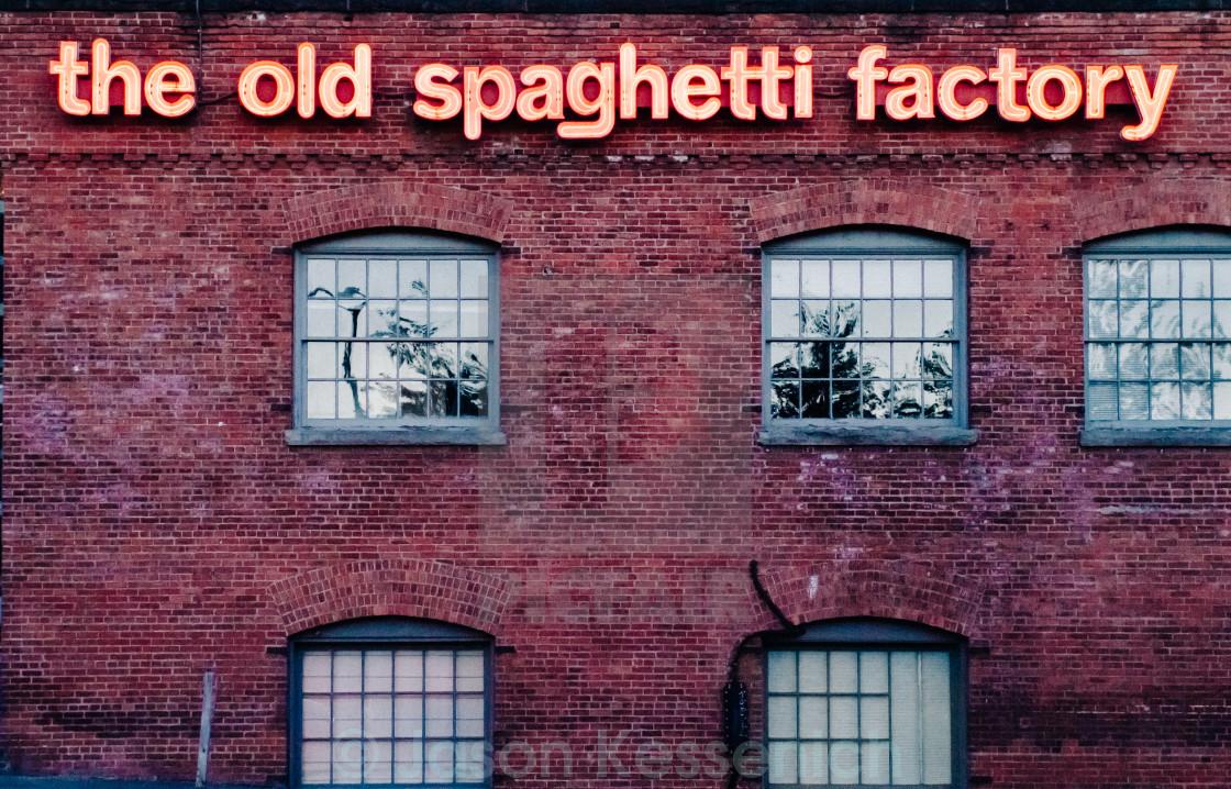 """Spaghetti Factory"" stock image"