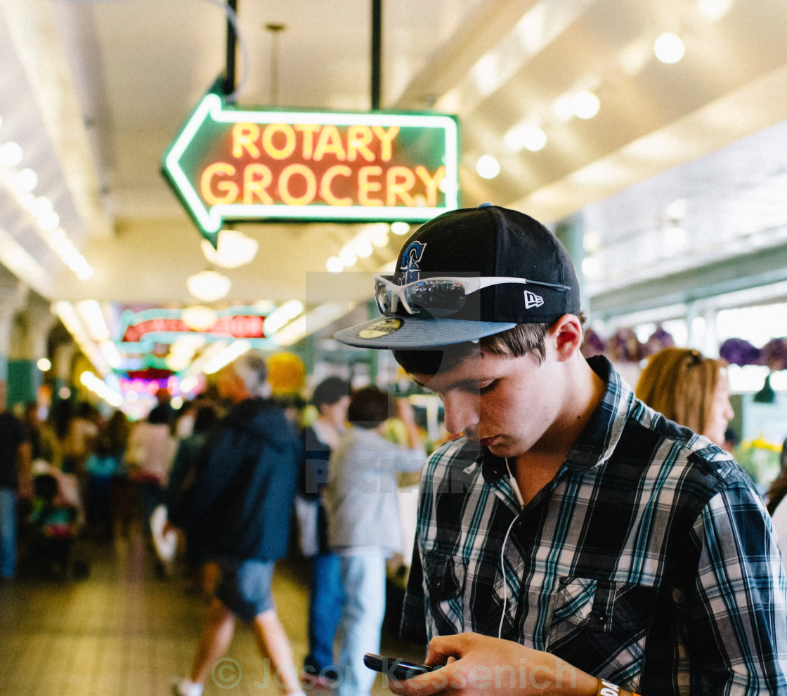 """""""A Stranger In Seattle"""" stock image"""