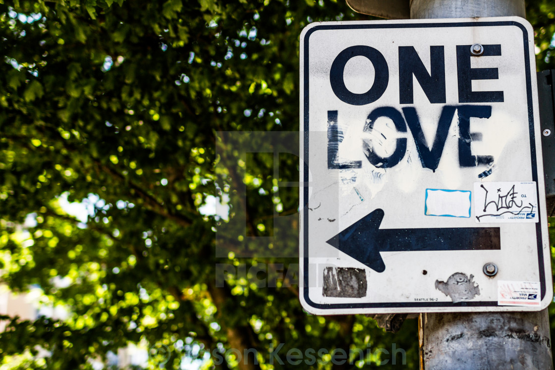"""One Love"" stock image"
