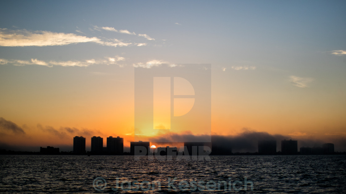 """Sunrise in Clearwater"" stock image"